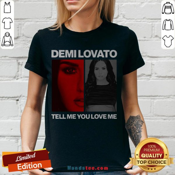 Pretty Demi Lovato Tell Me You Love Me V-neck - Design By Handstee.com