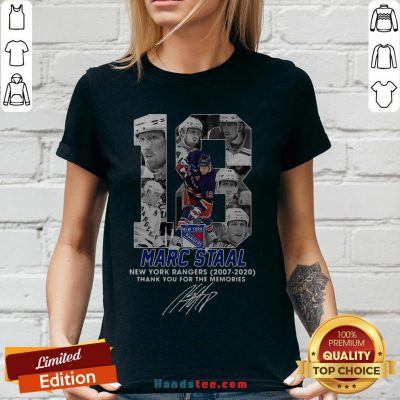 18 Marc Staal New York Rangers 2007 2020 Thank You For The Memories Signature V-neck - Design By Handstee.com