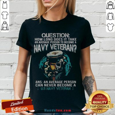 Question How Long Does It Take An Average Person To Become A Navy Veteran Skull V-neck - Design By Handstee.com
