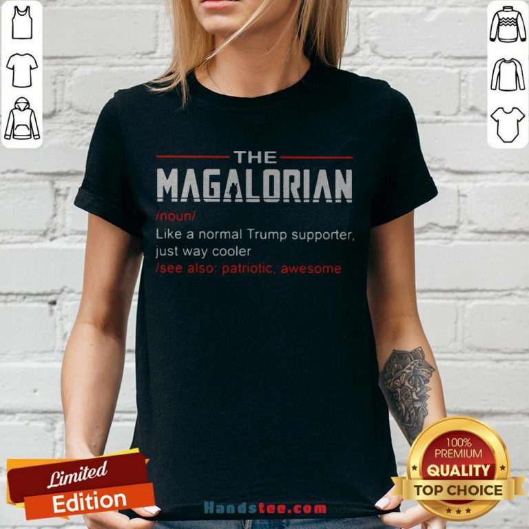 The Magalorian Like A Normal Trump Supporter Just Way Cooler V-neck - Design By Handstee.com