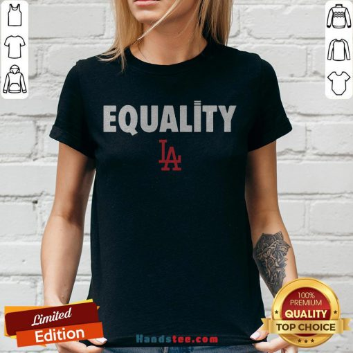 Nice Equality Los Angeles LA V-neck - Design By Handstee.com