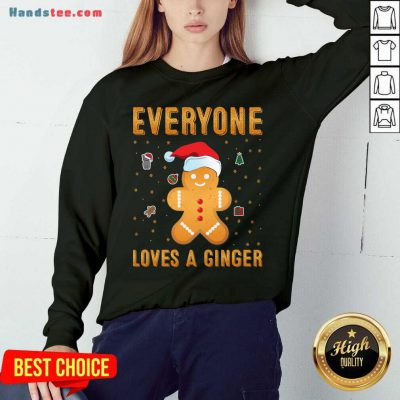 Awesome Everyone Loves A Ginger Sweatshirt- Design By Handstee.com