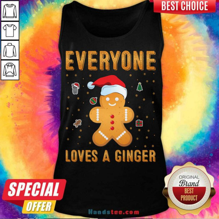 Awesome Everyone Loves A Ginger Tank-Top- Design By Handstee.com