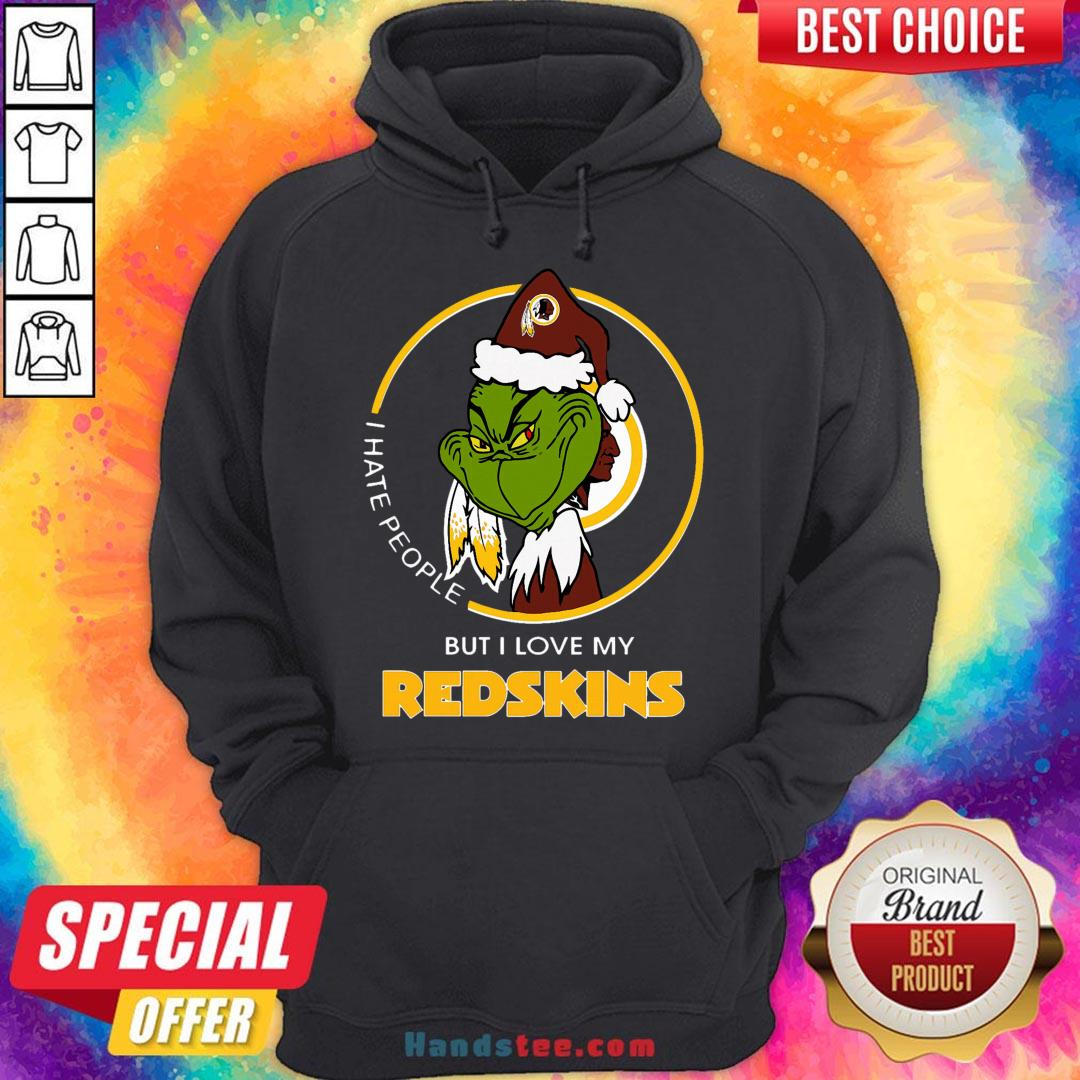 Awesome I Hate People But I Love My Washington Redskins Grinch Sweatshirt- Design By Handstee.com