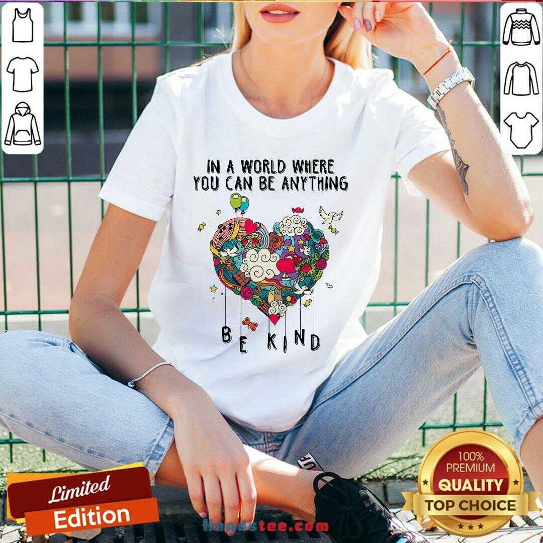 Awesome In A World Where You Can Be Anything  V-neck- Design By Handstee.com