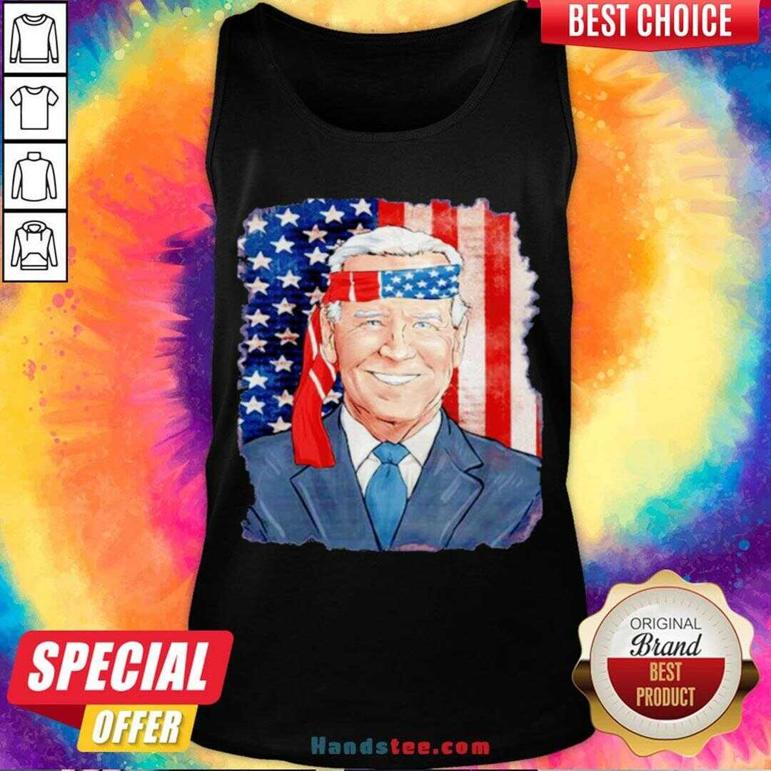 Awesome Joe Biden For President 46 Election 2020 American Flag Tank Top- Design By Handstee.com