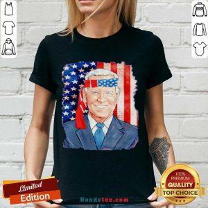 Awesome Joe Biden For President 46 Election 2020 American Flag V-neck- Design By Handstee.com