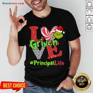 Awesome Love Grinch #Principal Life Christmas Shirt- Design By Handstee.com