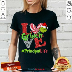 Awesome Love Grinch #Principal Life Christmas V-neck- Design By Handstee.com