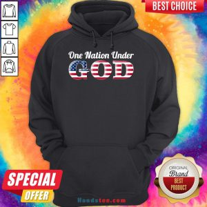 Awesome One Nation Under GOD American Flag Hoodie- Design By Handstee.com