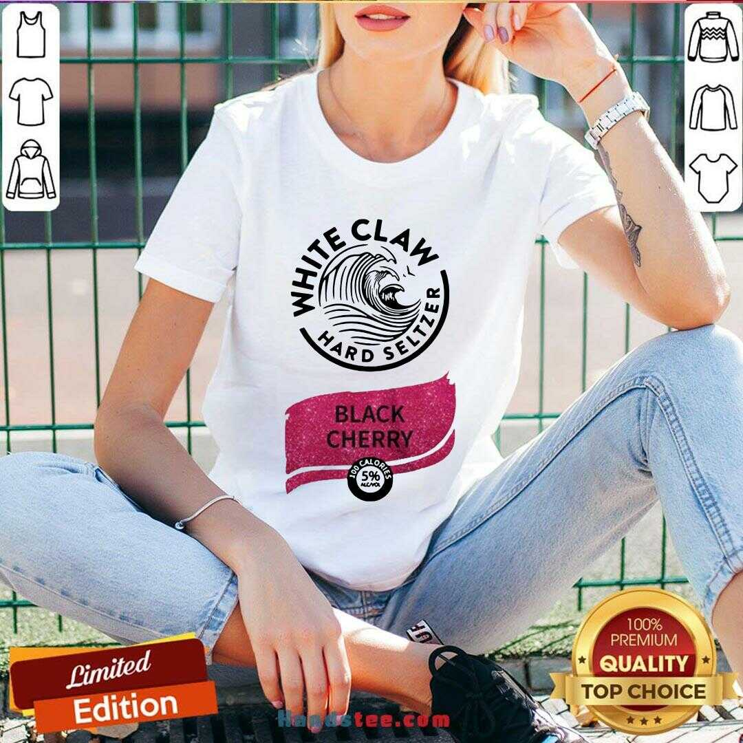 Awesome White Claw Hard Seltzer Black Cherry V-neck- Design By Handstee.com