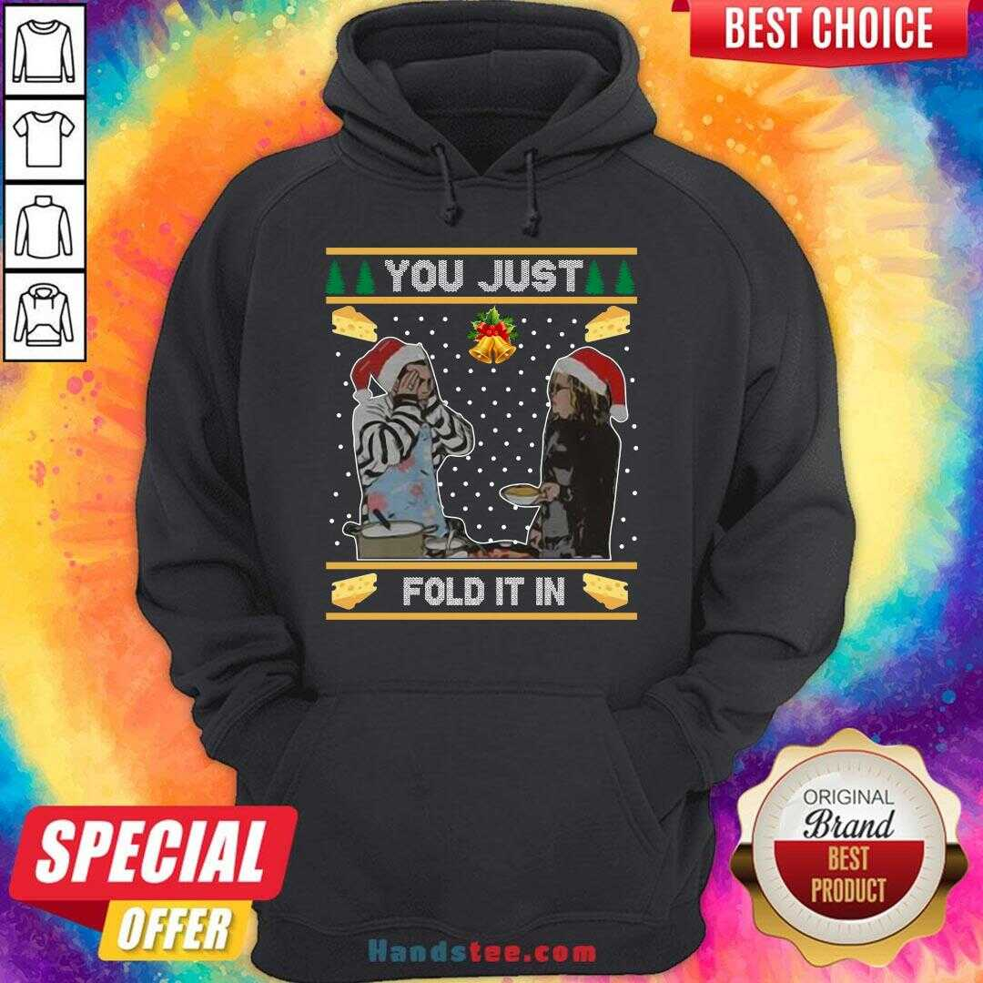Awesome You Just Fold It In Ugly Christmas Sweat  Hoodie- Design By Handstee.com
