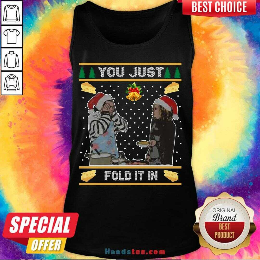 Awesome You Just Fold It In Ugly Christmas Sweat  Tank Top- Design By Handstee.com