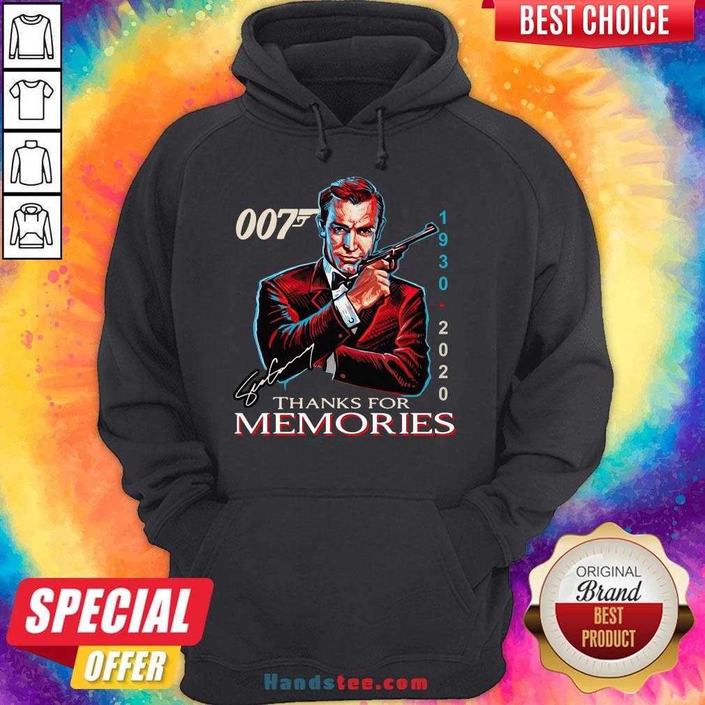 Funny 007 1930 – 2020 Signature Thanks For Memories  Hoodie- Design By Handstee.com