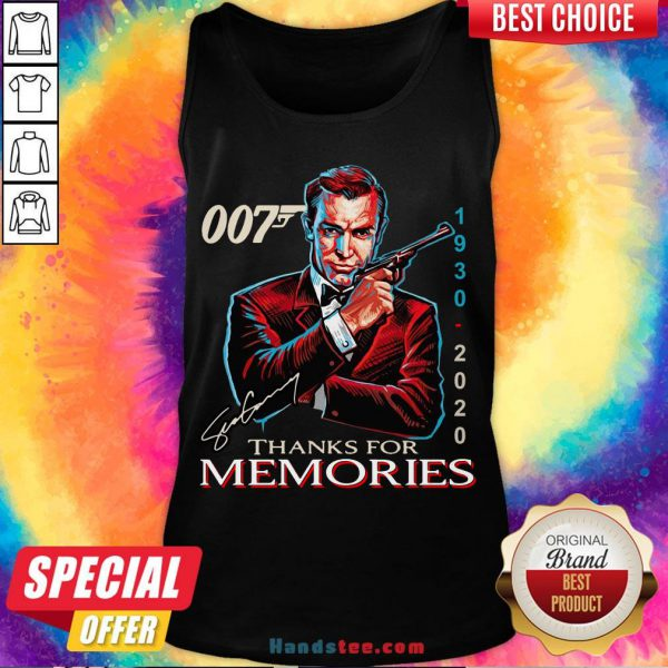 Funny 007 1930 – 2020 Signature Thanks For Memories Tank Top- Design By Handstee.com