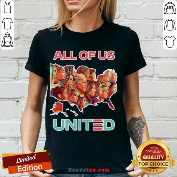 Funny All Of Us United By Biden Harris President 2020 V-neck- Design By Handstee.com