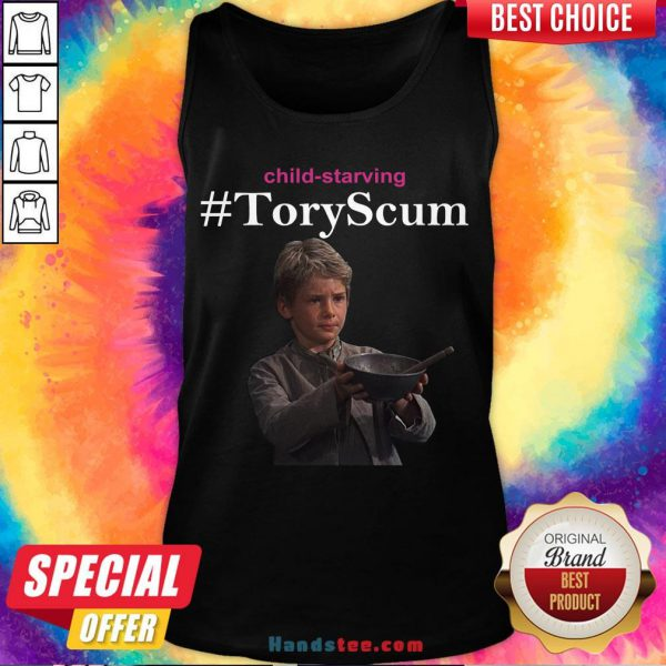Funny Child Starving Tory Scum Tank Top- Design By Handstee.com