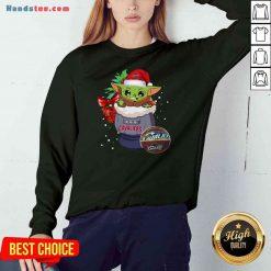 Funny Cleveland Cavaliers Christmas Baby Yoda Star Wars Funny Happy NBA Sweatshirt- Design By Proposetees.com