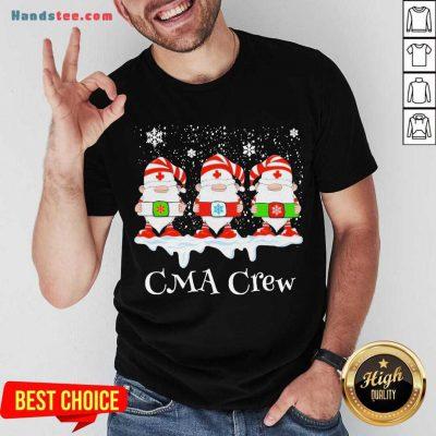 Gnome Nurse CMA Crew Merry Christmas 2020 Shirt- Design By Handstee.com