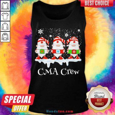 Gnome Nurse CMA Crew Merry Christmas 2020 Tank-Top- Design By Handstee.com