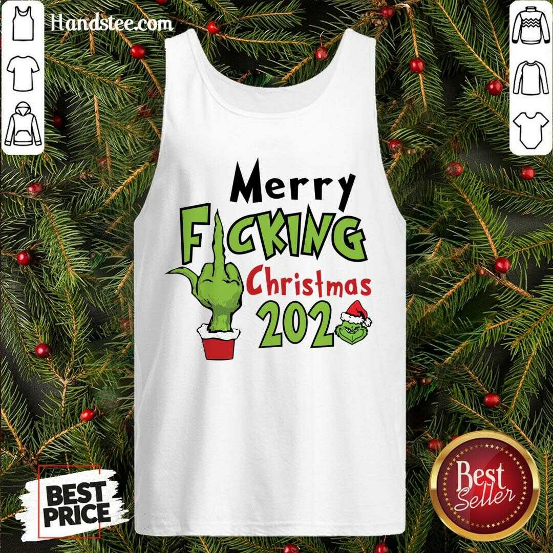Funny Merry Fucking Christmas 2020 Tank Top- Design By Handstee.com