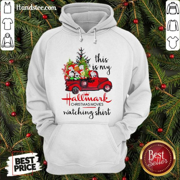 Funny The Peanuts This Is My Hallmark Christmas Movies Watching Hoodie- Design By Handstee.com