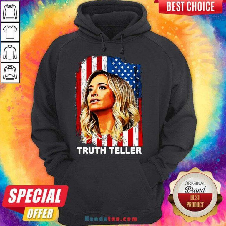 Good Kayleigh Mcenany Truth Teller American Flag Hoodie- Design By Handstee.com