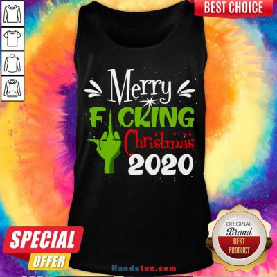 Merry Fuking Christmas 2020 Grinch Tank-Top- Design By Handstee.com