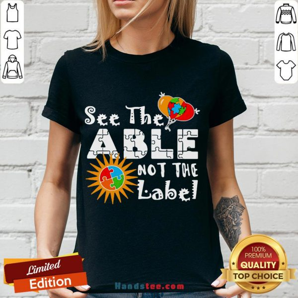 Good See The Able Not The Label Autism Awareness V-neck- Design By Handstee.com