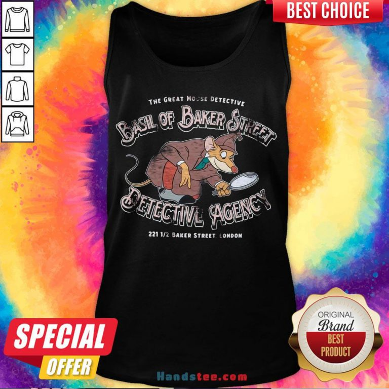 Good The Great Mouse Detective Basil of Baker Street Tank Top- Design By Handstee.com