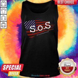 Happy S.O.S. American Grunge Flag Tank Top- Design By Handstee.com