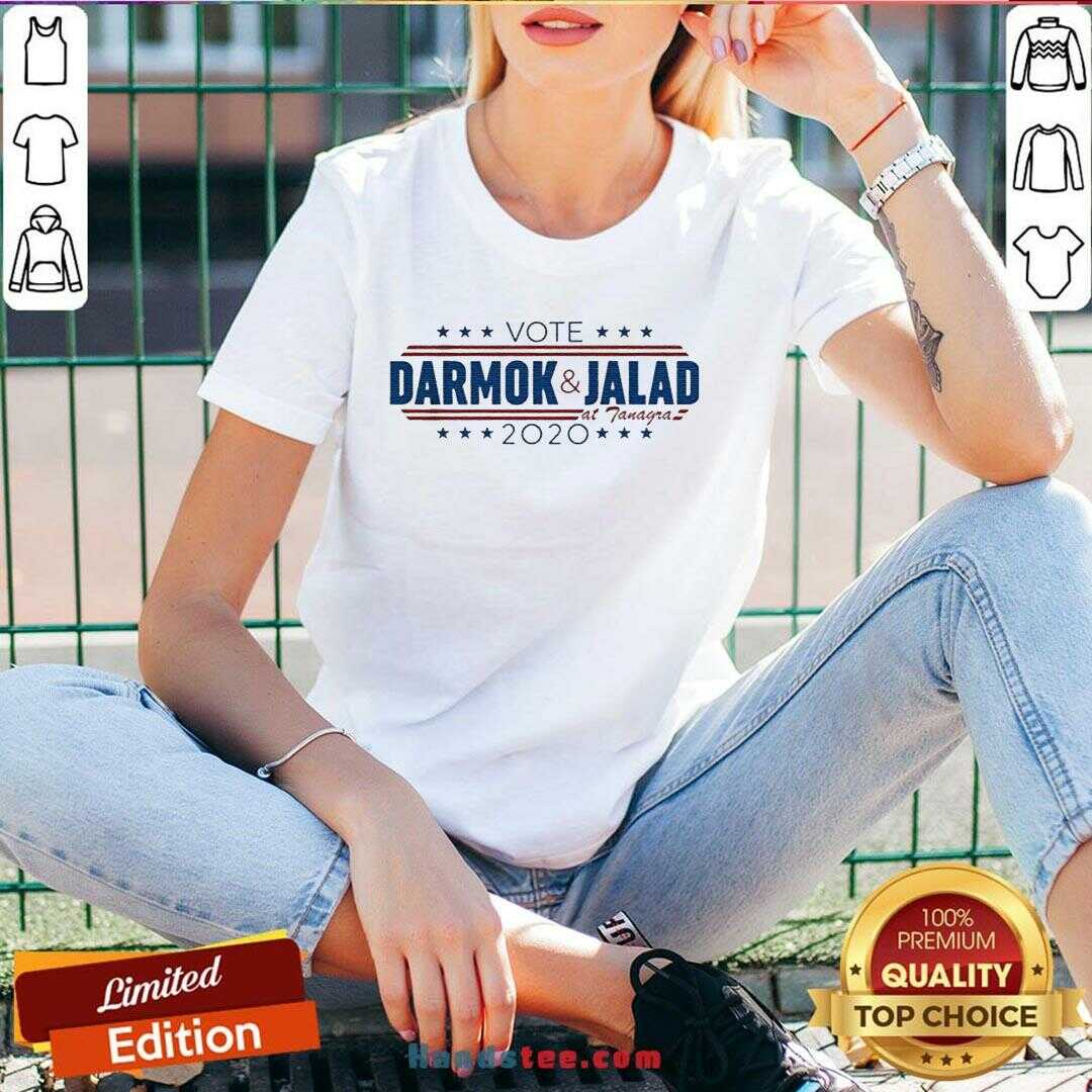 Happy Vote Darmok And Jalad At Tanagra 2020 V-neck- Design By Handstee.com