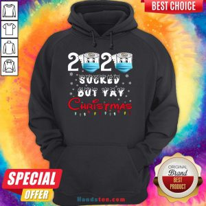 Hot 2020 Sucked But Yay Christmas Gift 2020 Sucked But Yay Christmas Hoodie- Design By Handstee.com