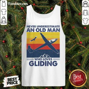 Hot Never Underestimate An Old Man Who Loves Gliding Vintag Tank Topdh