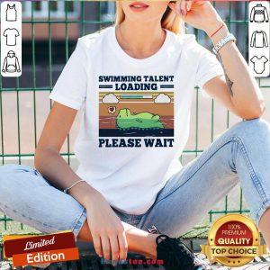 Hot Swimming Talent Loading Please Wait Vintage V-neck- Design By Handstee.com