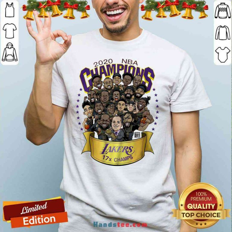 Nice 2020 NBA Champions Los Angeles Lakers 17 Champs Cartoon Shirt- Design By Proposetees.com