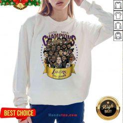Nice 2020 NBA Champions Los Angeles Lakers 17 Champs Cartoon Sweatshirt- Design By Proposetees.com