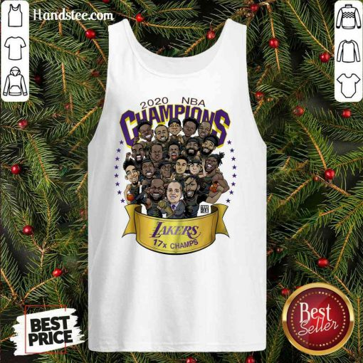 Nice 2020 NBA Champions Los Angeles Lakers 17 Champs Cartoon Tank-Top- Design By Proposetees.com