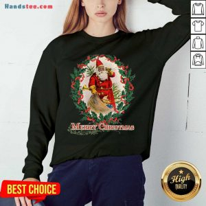 Nice African American Santa Claus Antique Vintage Merry Christmas Sweatshirt- Design By Handstee.com