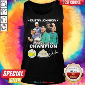 Nice Dustin Johnson 2020 Masters Champion Golf Signatures Tank-Top- Design By Proposetees.com