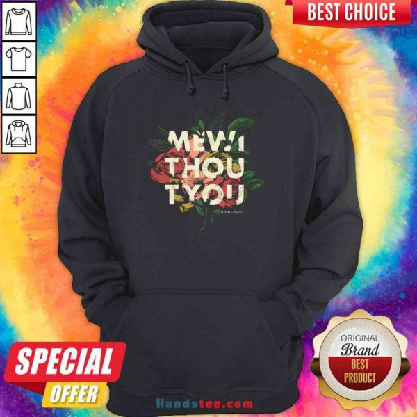 Nice Me Without You Floral Hoodie- Design By Proposetees.com