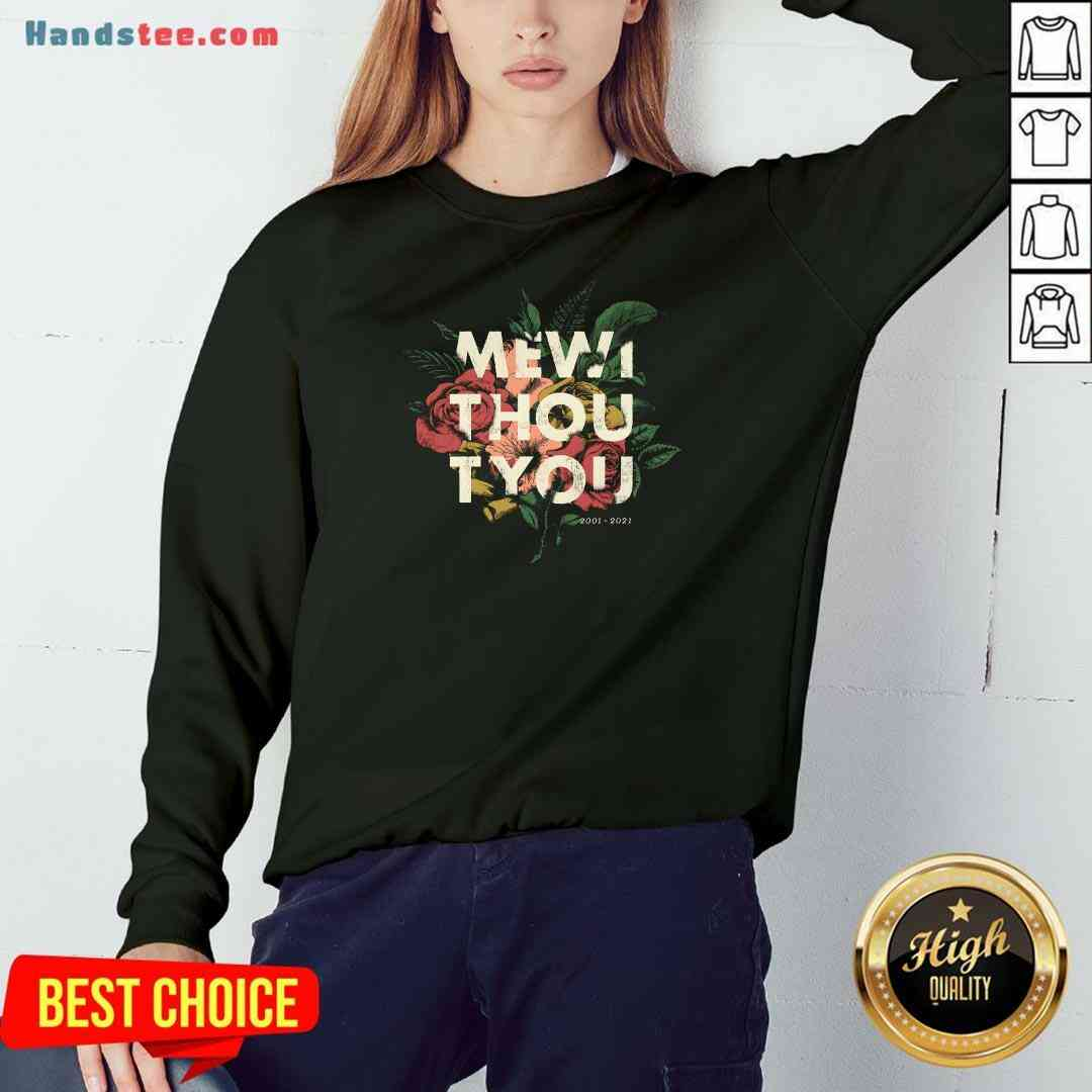 Nice Me Without You Floral Sweatshirt- Design By Handstee.com