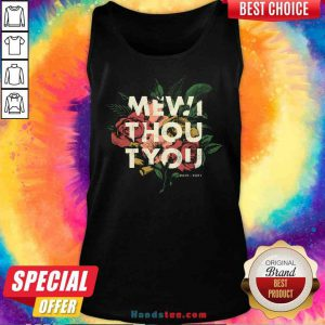 Nice Me Without You Floral Tank-Top- Design By Proposetees.com