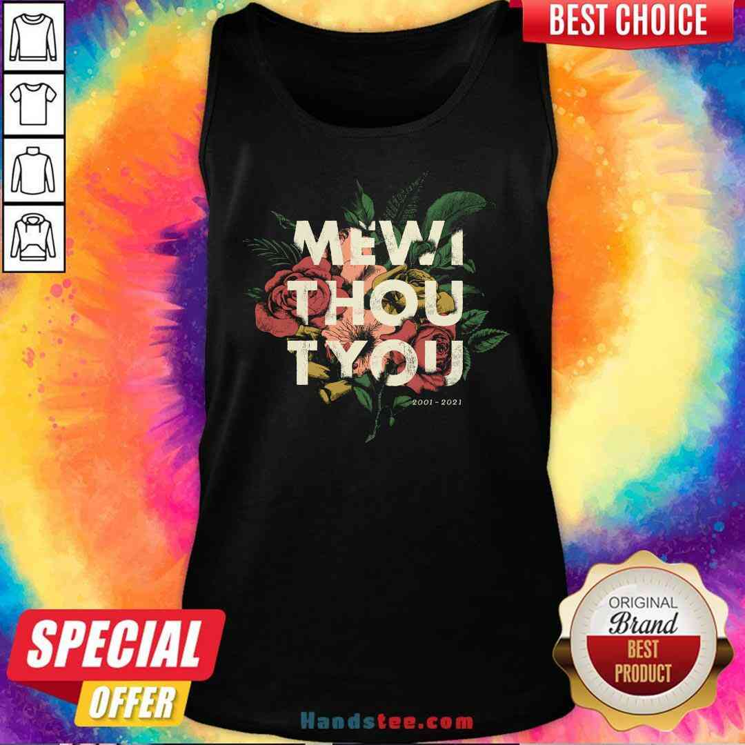 Nice Me Without You Floral Tank-Top- Design By Handstee.com