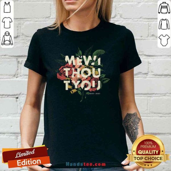 Nice Me Without You Floral V-neck- Design By Proposetees.com