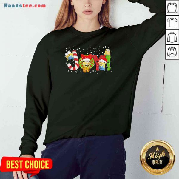 Nice Minions Joy Christmas Sweatshirt- Design By Proposetees.com