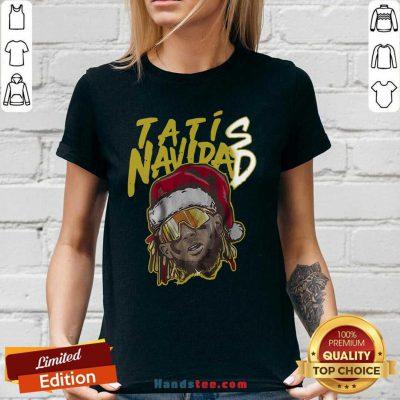 Tatís Navidad San Diego Christmas V-neck- Design By Handstee.com