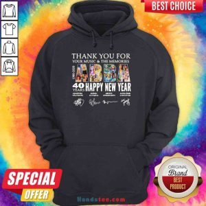 Nice Thank You For You Music And The Memories 40 Years Happy New Year Hoodie- Design By Proposetees.com