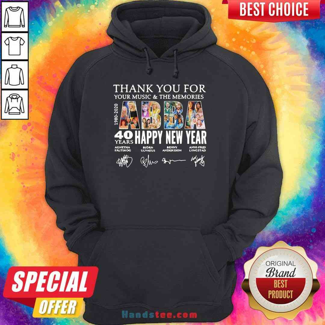 Nice Thank You For You Music And The Memories 40 Years Happy New Year Hoodie- Design By Handstee.com