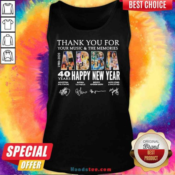 Nice Thank You For You Music And The Memories 40 Years Happy New Year Tank-Top- Design By Proposetees.com
